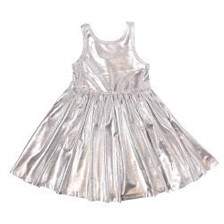 Liza Lame Dress Silver 5