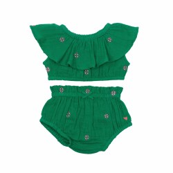Loretta Set Green Emb 18-24M