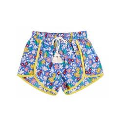 Millie Short Floral Plc Blu 4