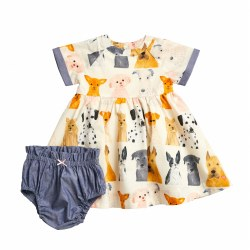 Olive Dress Set Dogs 18-24M