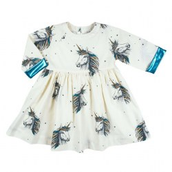 Olive Dress Unicorns 3
