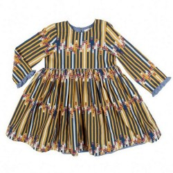 Sienne Dress Multi Pencils 8