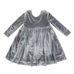Steph Dress Gray Velour 10