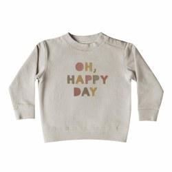 Happy Day Sweatshirt Fog 6-12M