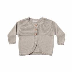 Knit Baby Cardigan Fog 0-3M