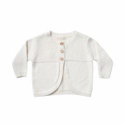 Knit Baby Cardigan Ivory 12-18