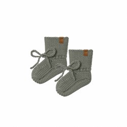 Knit Booties Basil 0-3M