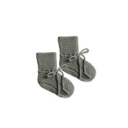 Knit Booties Eucalyptus 6-12M