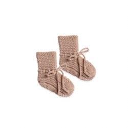 Knit Booties Petal 6-12M