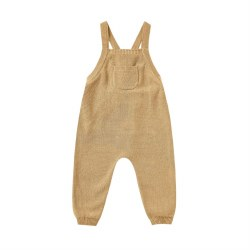 Knit Overalls Honey 0-3M