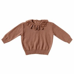 Petal Baby Sweater Clay 0-3M