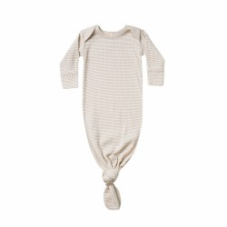 Ribbed Knot Gown Ash Stripe NB