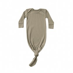 Rib Knot Gown Olive NB