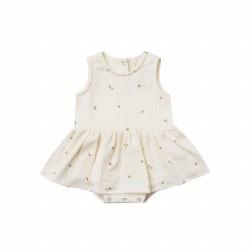 Skirt Tank Onesie Ivory 18-24M