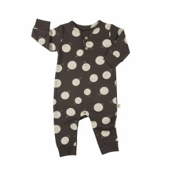 Moon Face Romper Coffee 3-6M