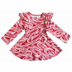 Ruffle Skt Dress Candy Cane 2