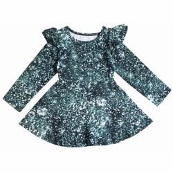 Ruffle Skater Dress Glitter 6
