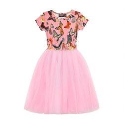 Butterfly Flounce SS Dress 7