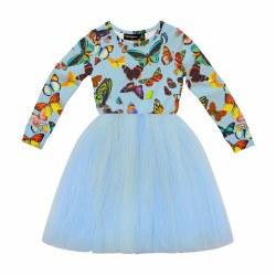 Butterfly Flounce LS Dress 2
