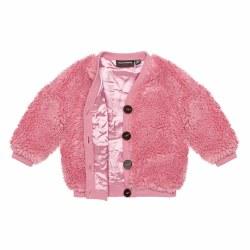 Sherpa Baby Cardi Pink 0-3M
