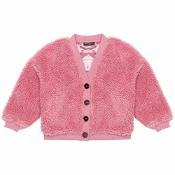 Sherpa Cardigan Pink 4