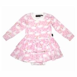 Swannie Baby Layer Dress 0-3M