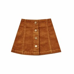 Cord Mini Skirt Cinnamon 2/3