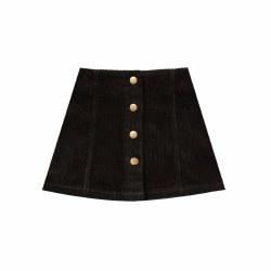 Cord Mini Skirt Vint Blk 2/3