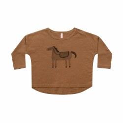 Horse LS Tee Rust 12-18M