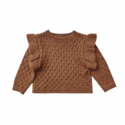La Reina Sweater Rust 12-18M