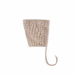 Loop Knit Pixie Hat Oat 0-6M