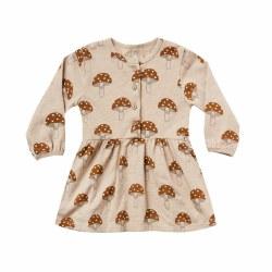 Mushroom Button Dress 18-24M