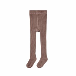 Ribbed Tights Wine 0-6M