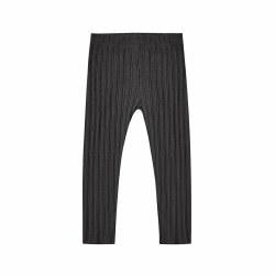 Ribbed Leg Vint Black 0-3M