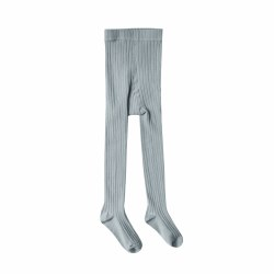 Ribbed Tights Dusty 12-24M