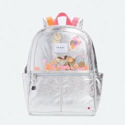 Kane Backpack Metallic Silver Sequins
