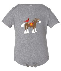Cardinal & Clydesdale Onesie 3-6M