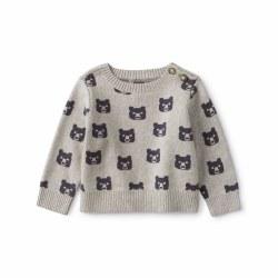 Baby Bear Sweater Grey 6-9M