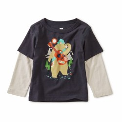 Camp Bear Layer Baby Tee 3-6M
