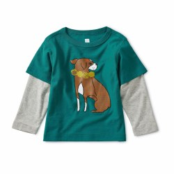 Dog Layer Baby Tee Scuba 3-6M