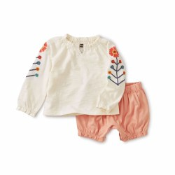 Emb Baby Set Chalk 6-9M