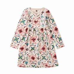 Floral Tibetan Henley Dress 3