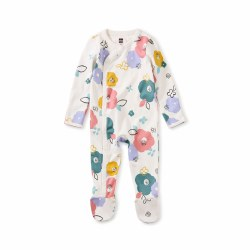 Footed Romper Floral 0-3M