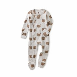 Footed Romper Beary Cute 0-3M