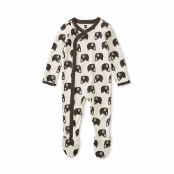 Footed Romper Elephant 0-3M