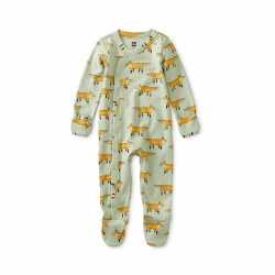 Footed Romper Fancy Foxes 0-3M