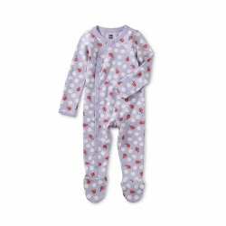 Footed Romper Lady Bug NB