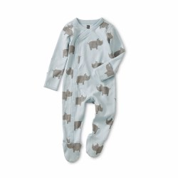 Footed Romper Rhino NB