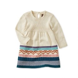 Fox Fair Isle Baby Dress 3-6M