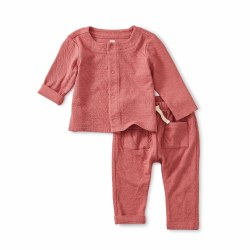 Match Crinkle Set Mauve 3-6M